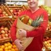 Senior man at supermarket